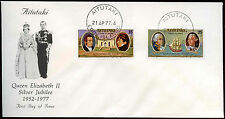 Aitutaki 1977 Silver Jubilee FDC First Day Cover #C24918