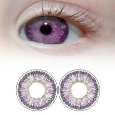 1 Pair Contact Lenses Color Soft Big Eye UV Protection Cosmetic Lens Purple EH