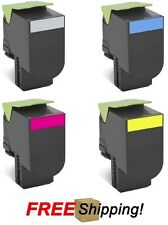4 High Yield Toner Cartridges for Lexmark (80C1S0) CX310 CX410 CX510 Series