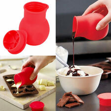 Silicone Chocolate Melting Pot Mould Butter Sauce Milk Baking Pouring Pan Tool