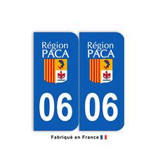 Stickers pour plaque département 06 Alpes-Maritimes (jeu de 2 stickers)