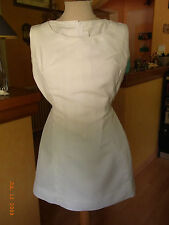 "MINI-ROBE ""TENNIS"" BLANCHE VINTAGE 70 T38 / WITHE ""TENNIS""  DRESS VINTAGE 70"