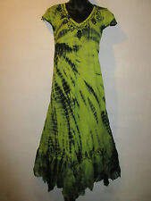 Halloween Garden Faerie Dress Fits XL 1X 2X 3X Plus Black Green Lace Hem NWT 663