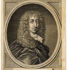 Portrait de Arthur Capel Comte D'essex Gravure originale 18e siècle
