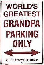 WOLRD'S GREATEST GRANDPA ... Parkplatz Für Grossvater Schild Metallschild ( GA)