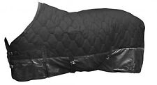"""82"""" Showman Black Quilted Winter Horse Blanket- 70 Denier Rip Stop Lining"""