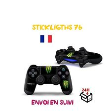 stickers monster energy  manette x1 ps4 led light bar controller