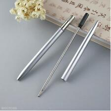 Portable Small Stainless Steel Rod Rotating Metal Ballpoint Pen Gift Stationery