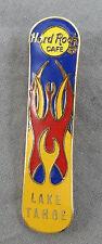 Hard Rock Cafe Pin - Lake Tahoe - 1990s Snowboard w/ Tribal Tattoo Flames Yellow