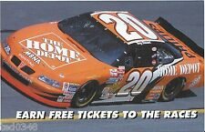 "2002 TONY STEWART #20 HOME DEPOT ""EARN FREE TICKETS TO THE RACES"" POSTCARD!"