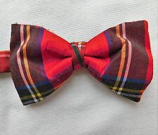 Silk bow tie Royal Stewart tartan Scottish plaid Collar size 14-18 inch Tie Rack