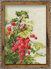 RIOLIS COUNTED CROSS STITCH KIT - RED CURRANT - R1060 - 18*24 cm