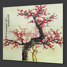 "Cherry Tree oriental Premium Photo Box Toile imprimer 12 ""x12"" ""free uk postage"