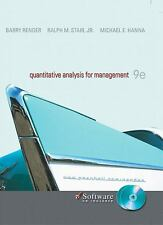 Quantitative Analysis for Management by Barry Render, Ralph Stair, MichaelHanna