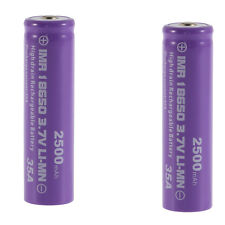 2pcs High Drain Rechargeable Battery 18650 35A 3.7v LI-MN 2500mAh Button Top OY