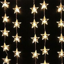 Hanging Star Lights Decorative LED Curtain 54 Christmas Lamp String Ceiling New