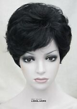 Fashion Black Short Curly Women ladies Daily Synthetic Full Wig MSTLD218