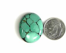 Natural Mint Green Wide Web Turquoise Cabochon  Gem Stone Tibet beautiful st001