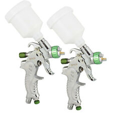 2x Detail Touch-Up HVLP Spray Gun Auto Car Paint Spot Repair with Plastic Cup