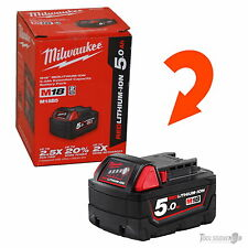 MILWAUKEE M18B5 18V 5.0AH RED LITHIUM BATTERY GENUINE AUS STOCK NEW CRAZY SALE