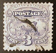 US Postage Stamp #114 – 1869 3c Locomotive, Ultramarine