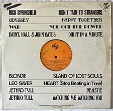BLONDIE HALL & OATES JETHRO TULL DJ SPECIAL PROMO LP