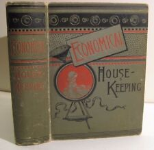 RARE 1886 ANTIQUE HOUSEKEEPING COOKBOOK COOKERY recipes + BEES GARDEN REMEDIES $