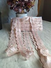 Antique Pink Lace, Vintage Floral Trim, 3yd Vintage Wedding Ballet Bear & Dolls