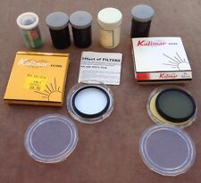 Lot of Kalimar UV 52mm K 852 Kalimar PL 52 K 1052 Filters Empty Film Can *AS-IS*