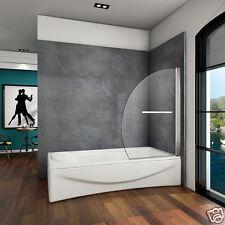 Aica 180° Pivot Bath Shower Screen 8mm Glass Door Panel 1000x1500mm Seal Chrome