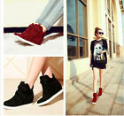 Hot Strap Canvas Wedge Hidden Heels High Top Ankle Boots Sneaker Women Shoes New