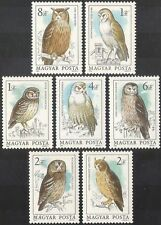 Hungary 1984 Owls/Birds/Raptors/Nature/Wildlife/Conservation 7v set (b6867)