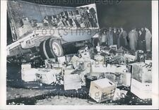 1953 Wrecked Tractor Trailer Truck Loaded With Produce Press Photo