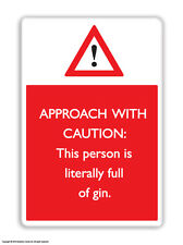 Brainbox Candy Full Of Gin fridge magnet funny joke cheap gift birthday present