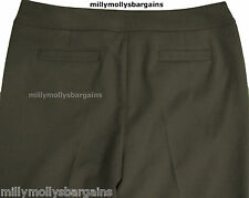 New Womens Marks and Spencer Autograph Smart Brown Trousers Size 14 Long DEFECT