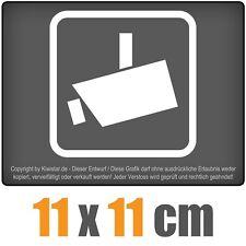 Videoüberwacht 11 x 11 cm JDM Decal Sticker Aufkleber Racing Die Cut