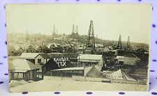 RPPC Vintage 1920's Ranger Texas Oil Rigs Wells Houses Tents Real Photo Postcard