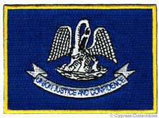 LOUISIANA STATE FLAG PATCH EMBROIDERED IRON-ON new APPLIQUE EMBLEM
