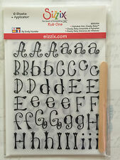 NEW Sizzix Rub Ons ALPHABET SET CHEEKY BABY 655084 3x sheets of White, 3x black