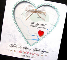 Hand-Made Personalised  ' Venue Map' Wedding Card