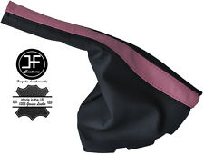 BLACK & PINK LEATHER HANDBRAKE GAITER FITS VOLKSWAGEN VW GOLF MK3 1991-1997
