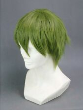 Kuroko's Basketball Midorima Shintaro Short Green Cosplay Hair Cosplay Wig + Cap