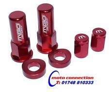 MBO SPORT RED RIM LOCK NUT AND VALVE CAP KIT FOR HONDA CRF250 CRF450 2016