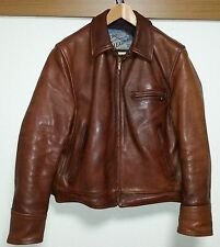Aero Leather Jacket Highwayman Size 38  Front Quarter Horsehide brown