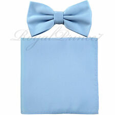 Men's Butterfly Pre-tied Bow tie and Pocket Square Hanky Set Wedding Party Prom