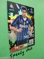 Adrenalyn 11 12 Diego Milito limited edition Panini champions league CL 2012