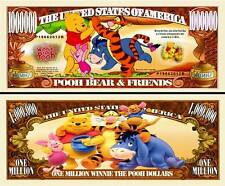 Winnie the Pooh Million Dollar Collectible Funny Money Novelty Note
