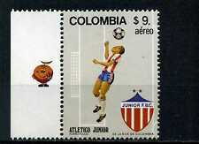 JUNIOR,-FUTBOL OF     COLOMBIA   AND LABEL SPECIAL MNH 1982