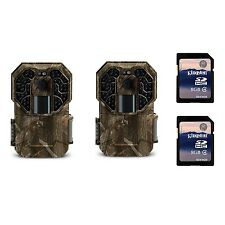 Stealth Cam G45NG 14MP IR No Glo Infrared Game Trail Cameras (2 Pack) + SD Cards