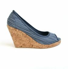 Damen Plateau Wedges 40 Blau Pumps High Heels Keil Sandaletten Shoes JS-57 .